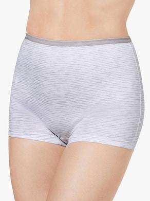 wäschepur Pants - hellgrau-meliert + weiß-grau-meliert