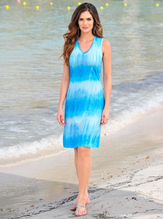 feel good Sommerkleid - blau-bedruckt