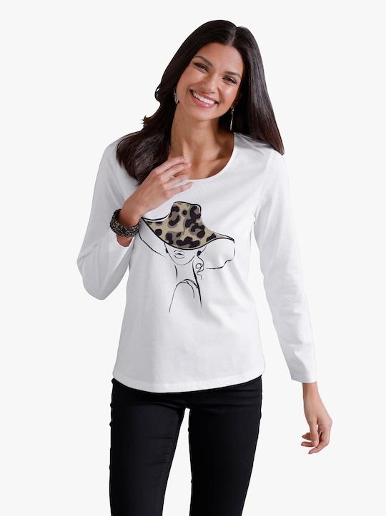 Tričko s dlouhým rukávem - ecru