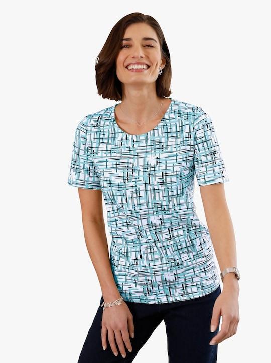 Tričko - mátová-potisk