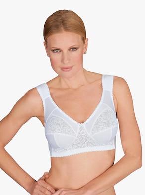 Odlehčovací podprsenka bez kostic - bílá