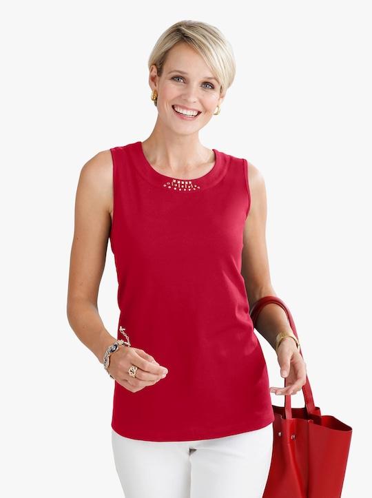 Shirttop - rood
