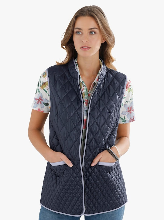 Prošívaná vesta - námořnická modrá