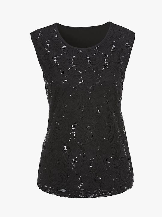 Shirttop - zwart