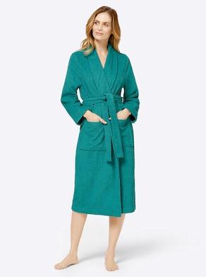 feel good Bademantel - smaragd