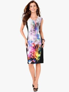 Jersey-Kleid - bunt-bedruckt