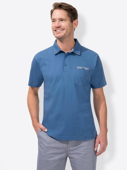 Marco Donati Kurzarm-Shirt - blau