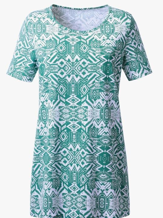 Dlouhé tričko - laguna-potisk