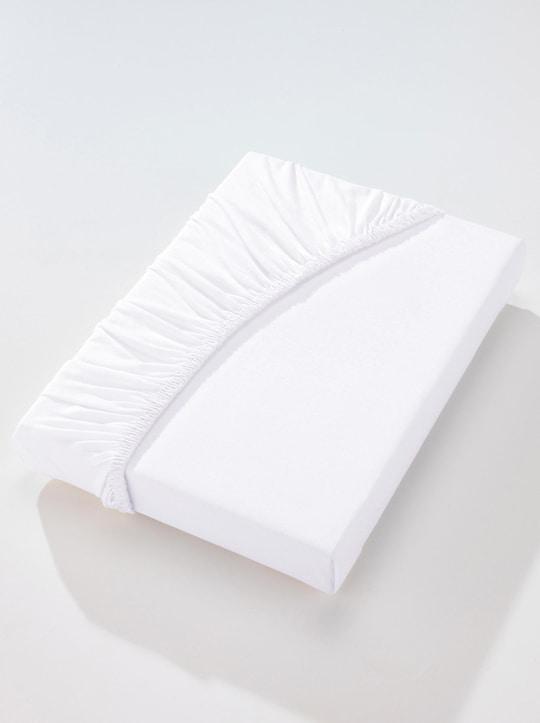 wäschepur Spannbetttuch - weiß