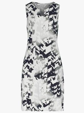 Sommerkleid - schwarz-weiß-gemustert