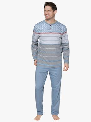 Schlafanzug - rauchblau