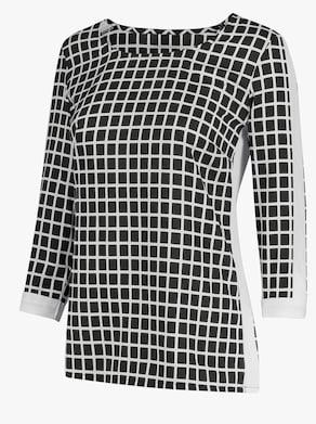 Bluse - schwarz-weiß-kariert