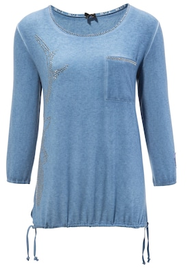 MarJo Trachtenshirt - blau