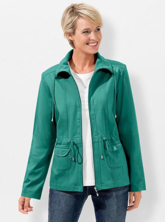 Collection L Sweatjacke - smaragd