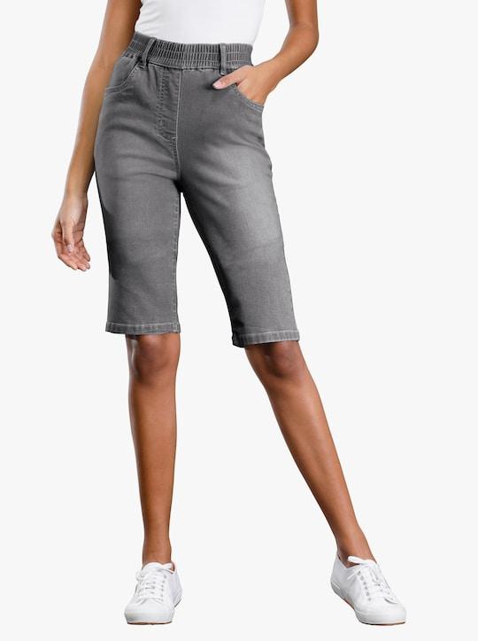 Jeansbermudas - grey-denim