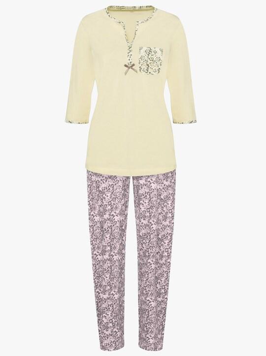 wäschepur Schlafanzug - rose+ vanille-bedruckt