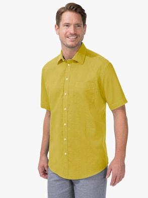 Kurzarm-Hemd - gelb