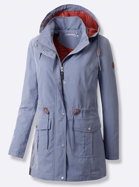 Collection L Jacke - taubenblau