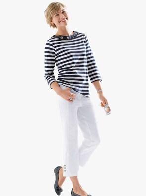 3/4-Jeans - weiß
