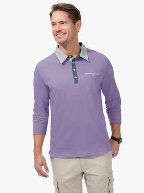 Langarm-Shirt - lavendel