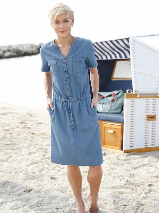 Kleid - blue-bleached