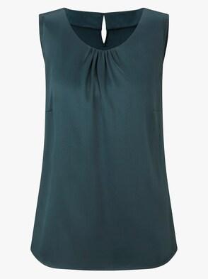 Blusentop - dunkelgrün
