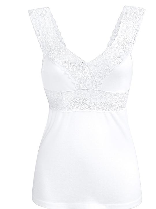 wäschepur BH-Hemd - weiß