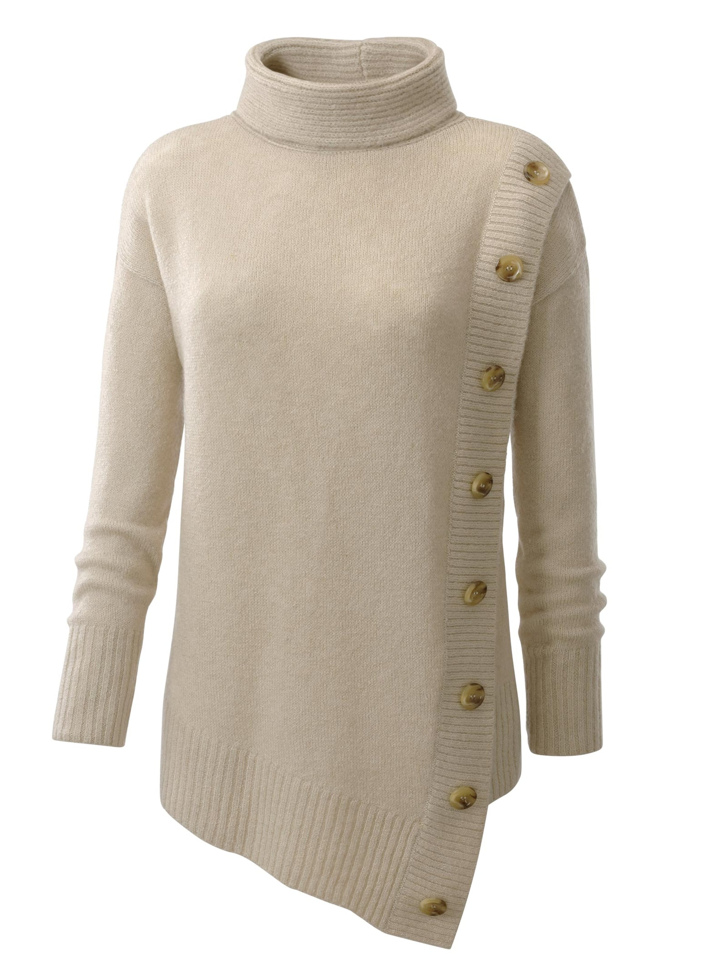 witt weiden -  Damen Rollkragen-Pullover beige-meliert
