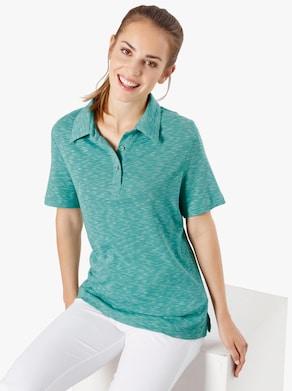 Freizeitshirt - grün-meliert