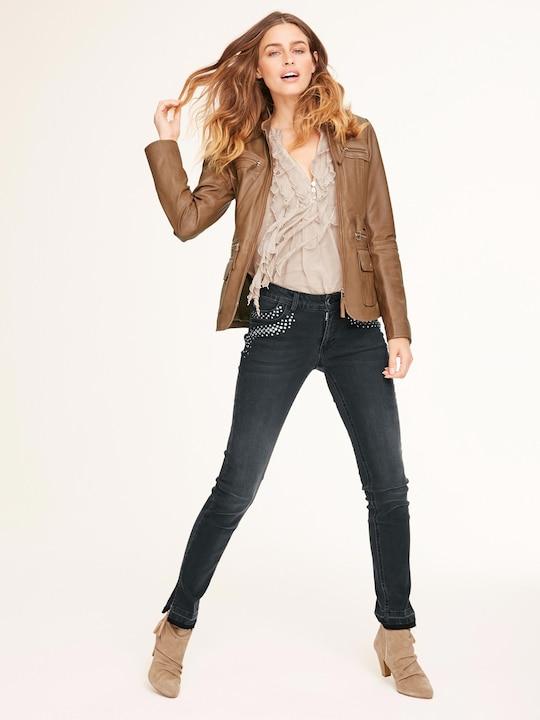 Ashley Brooke Longline blouse - zand