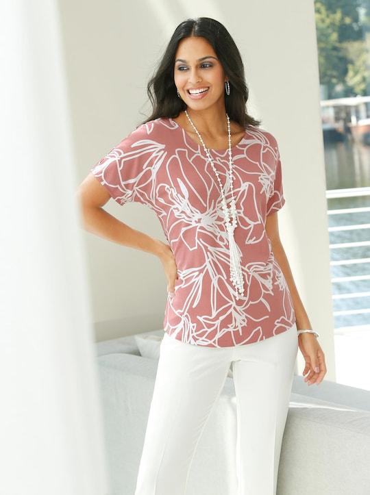 Fair Lady Shirt - rosenholz-ecru-bedruckt