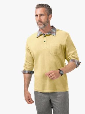 Langarm-Poloshirt - gelb