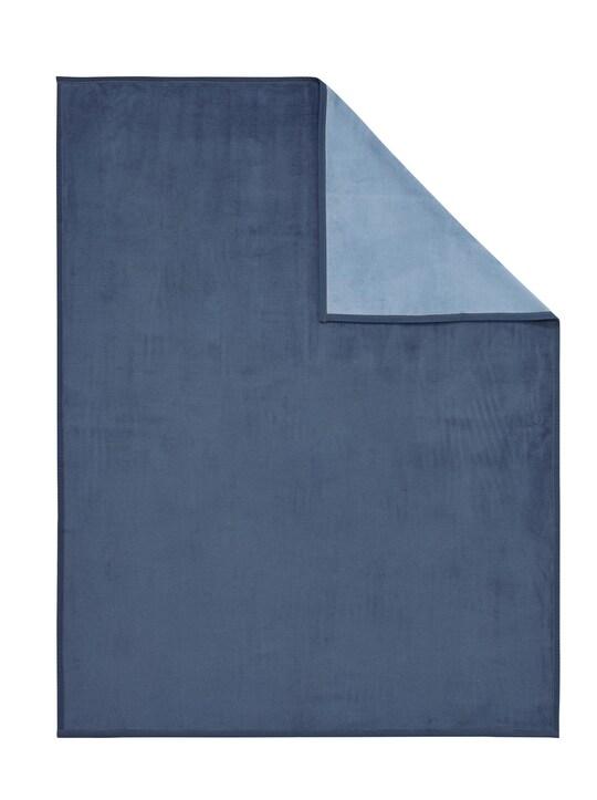Biederlack Wohndecke - jeansblau