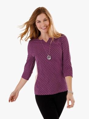 Tričko - vřesová-vzor