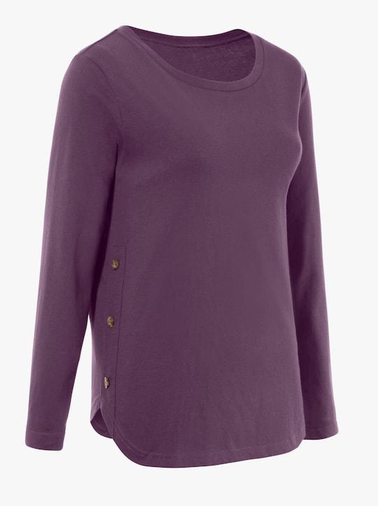Shirt met ronde hals - druif