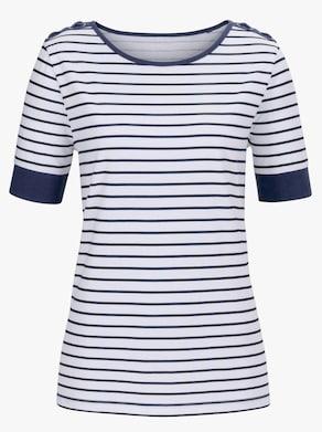 Shirt - weiß-geringelt