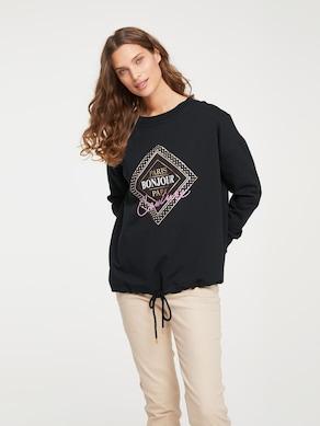Linea Tesini sweatshirt - zwart