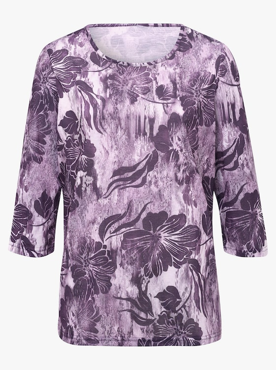 Shirt - aubergine geprint