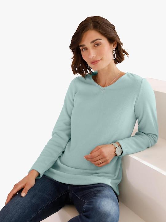 Fleecové tričko - limetková