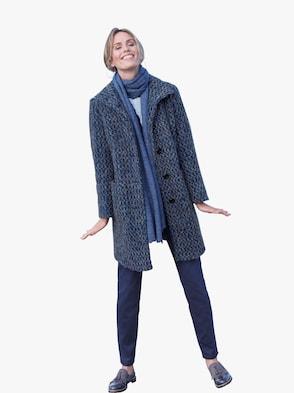 Schal - jeansblau-meliert