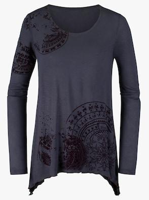 Longshirt - pflaume-bedruckt
