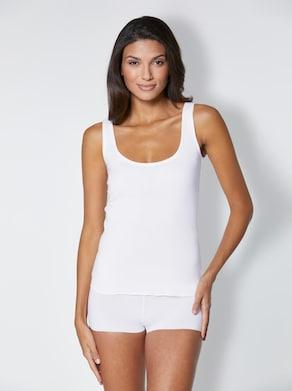 wäschepur Achseltop - weiß