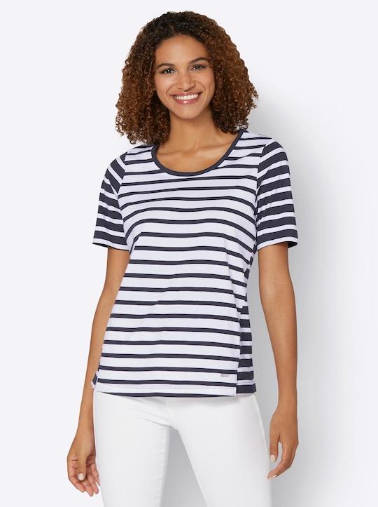 Collection L Shirt - marine-weiß-gestreift