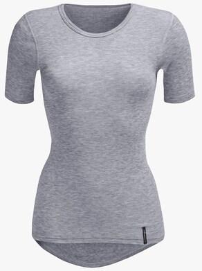 comazo Kurzarm-Shirt - grau-meliert