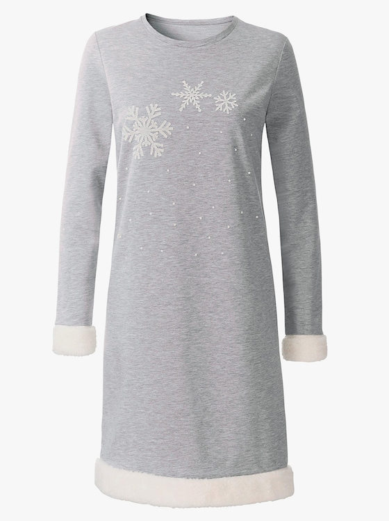 Hajo Sleepshirt - grau-meliert