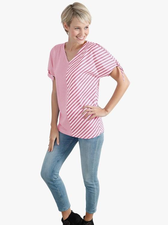 Shirt - altrosé-weiß