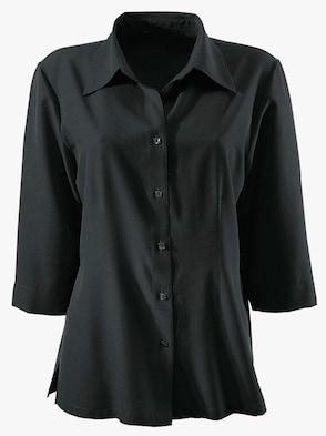 Hemdbluse - schwarz