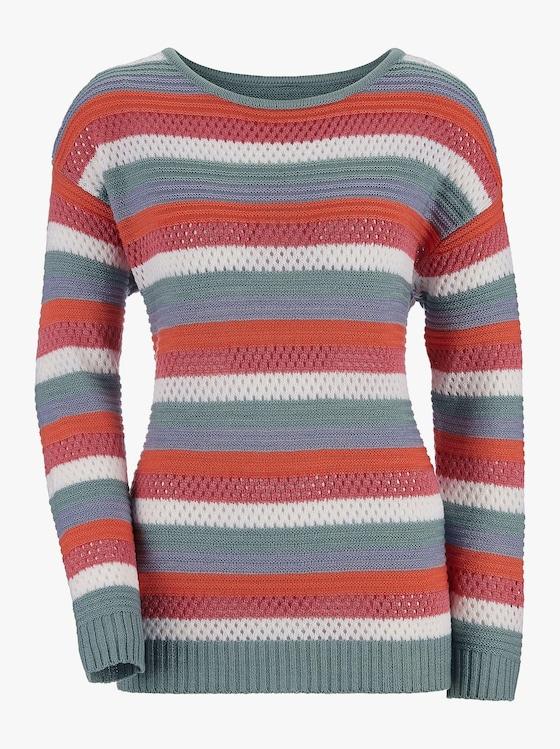 Pullover - bunt-gestreift