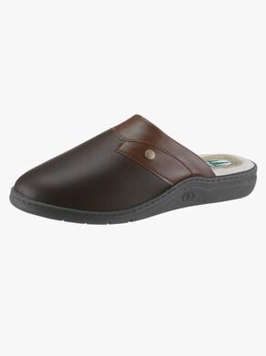 Vystlané papuče - hnedá