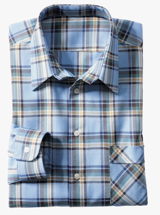Hemd met lange mouwen - blauw geruit